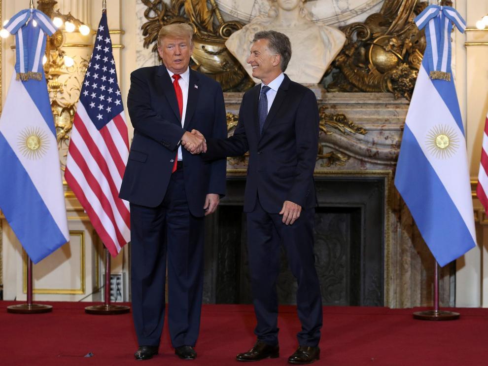 Donald Trump y Mauricio Macri en la Casa Rosada.
