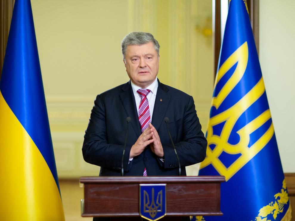 El presidente ucraniano Petro Poroshenko.