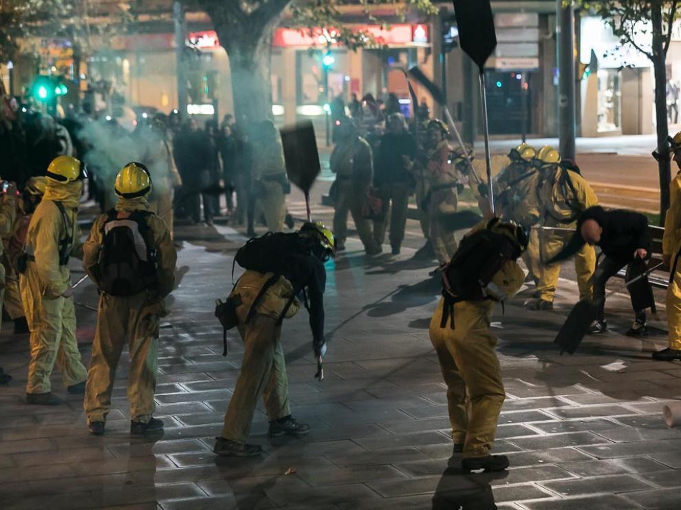 Protesta de los bomberos forestales