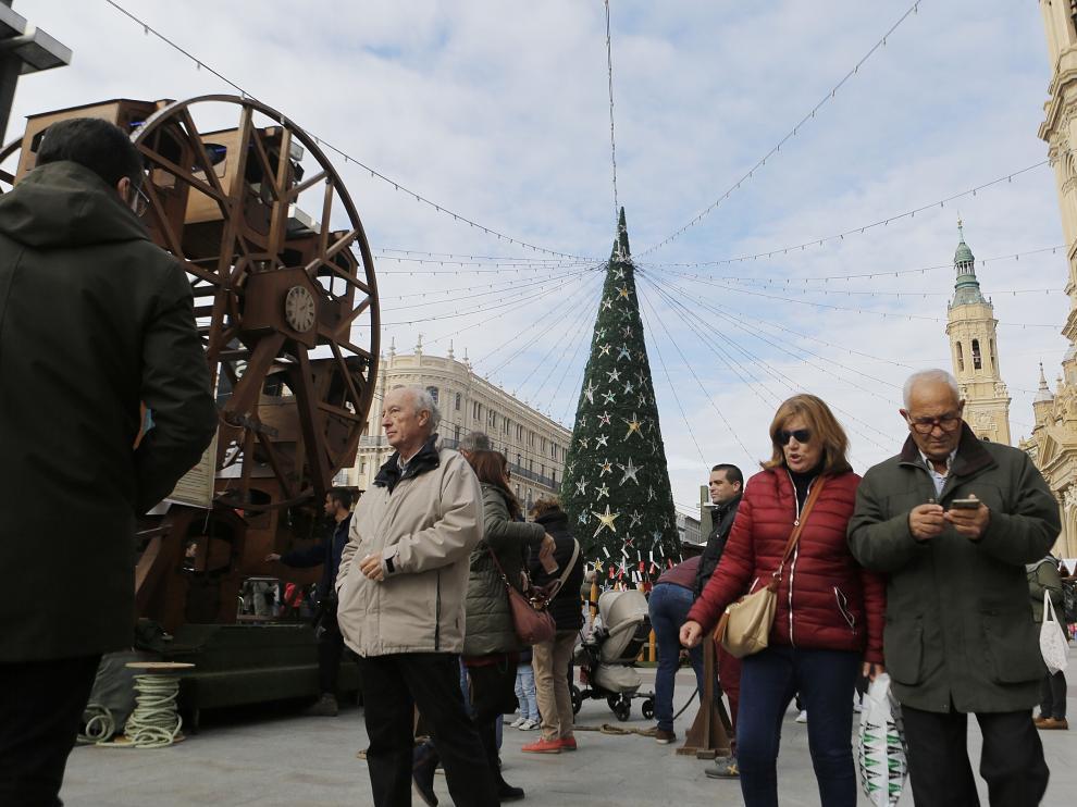Mercadillo Navideño plaza del Pilar donde se reforzará la seguridad.