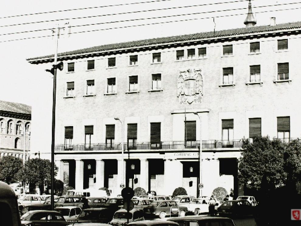 La Delegación del Gobierno en Aragón cumple seis décadas en la plaza del Pilar