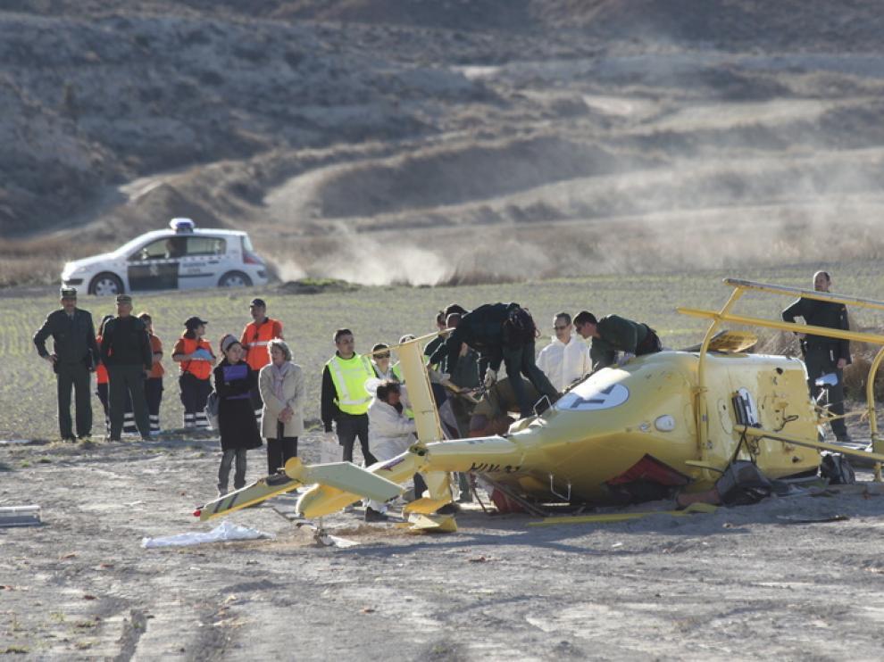 Imagen del accidente de Alcorisa.