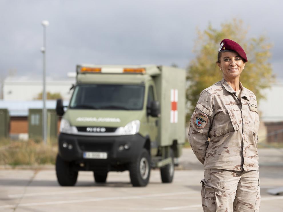 La teniente coronel Ana Betegón, al frente de la Unidad Médica Aérea de Apoyo al Despliegue (UMAAD)