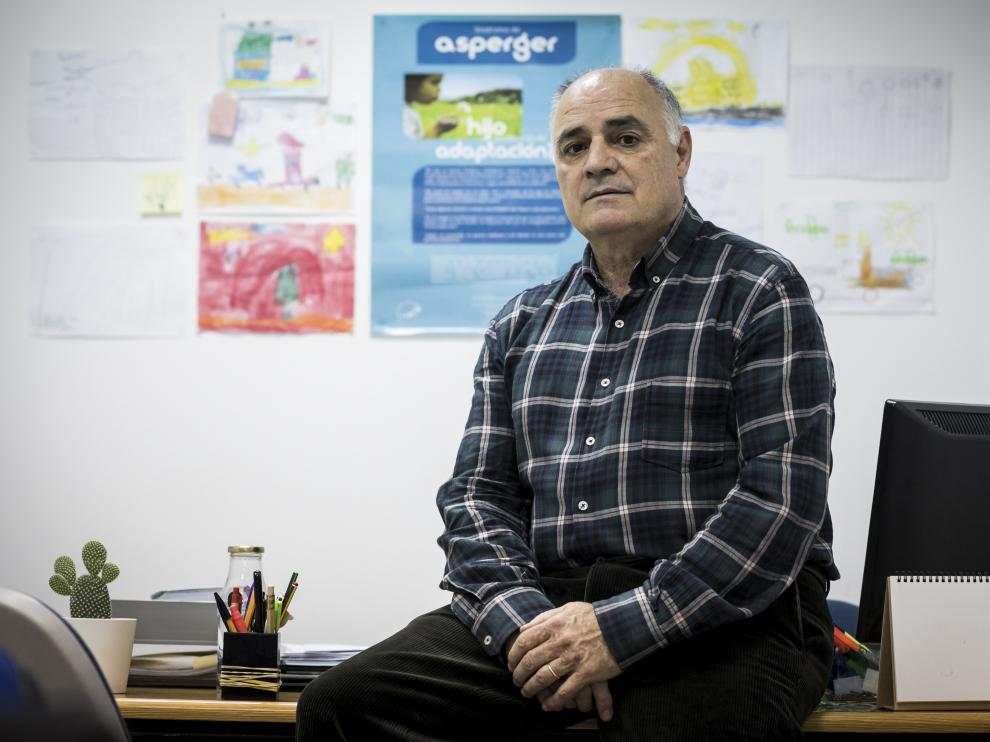 Rafael Calvo, presidente de Asperger Aragón, en Zaragoza