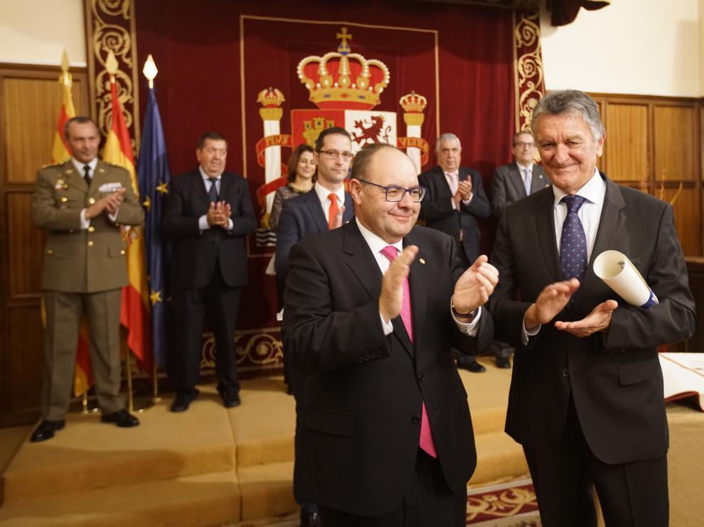 José Ramón Morro, a la izquierda, y Federico García Buj.