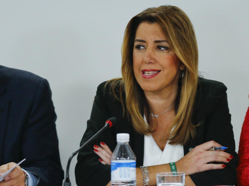 Las secretaria general del PSOE-A y presidenta de la Junta en funciones, Susana Díaz.
