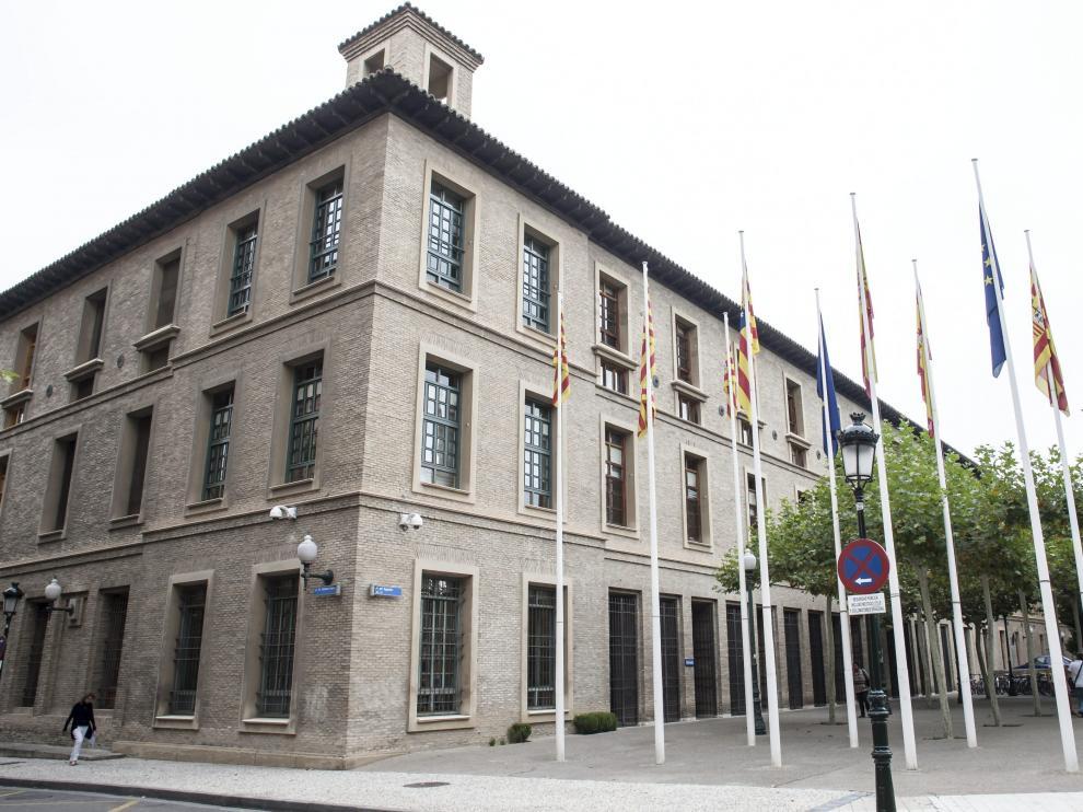 En la imagen, el edificio Pignatelli, sede del Gobierno aragonés en Zaragoza.