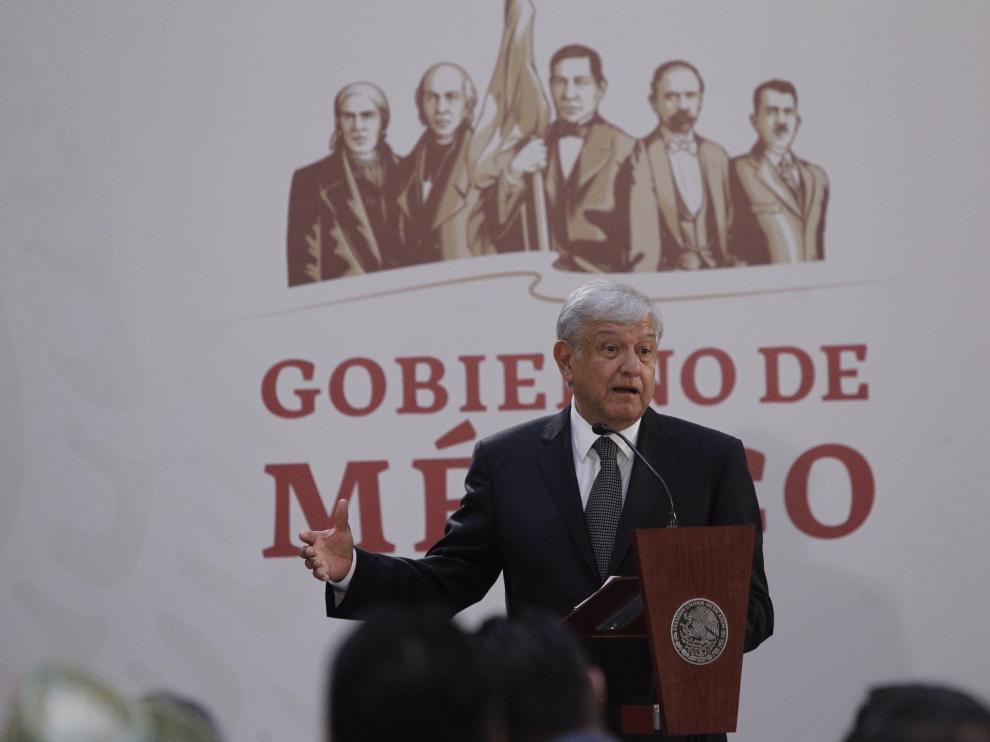 """El presidente mexicano Andrés Manuel López Obrador dijo que la situación en la frontera """"tiende a normalizarse""""."""