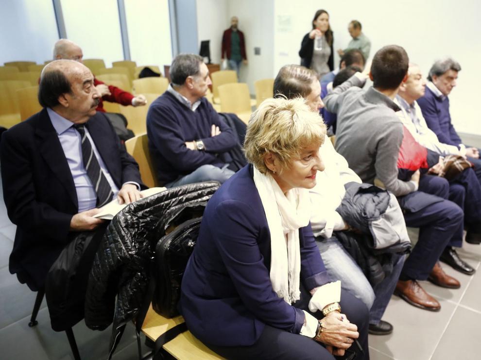 Los acusados en el juicio de La Muela durante una de las vistas orales del caso.