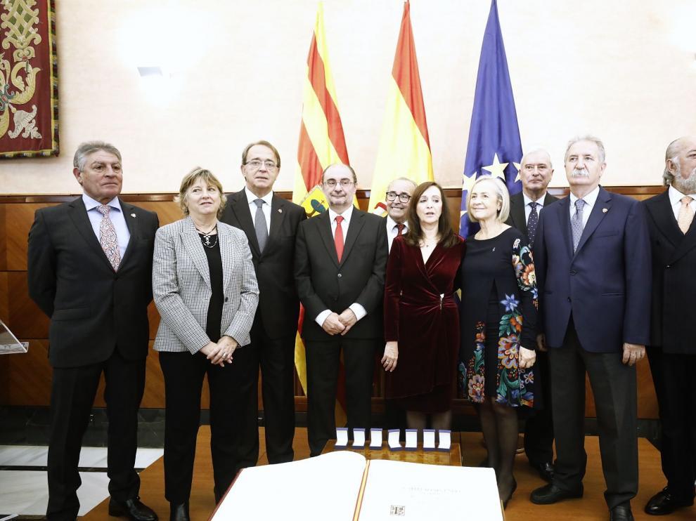 Acto de la Constitución celebrado este miércoles en Zaragoza.