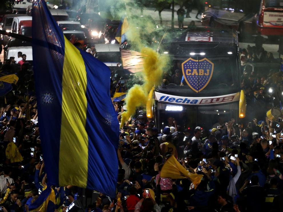 La despedida de la afición a Boca Juniors