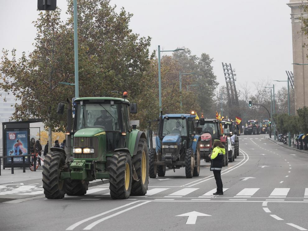 Tractorada en Zaragoza