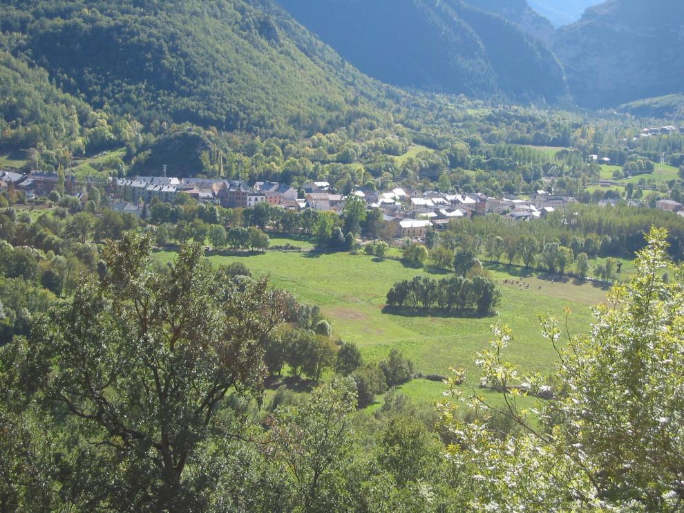 Vista general de Castejón de Sos.