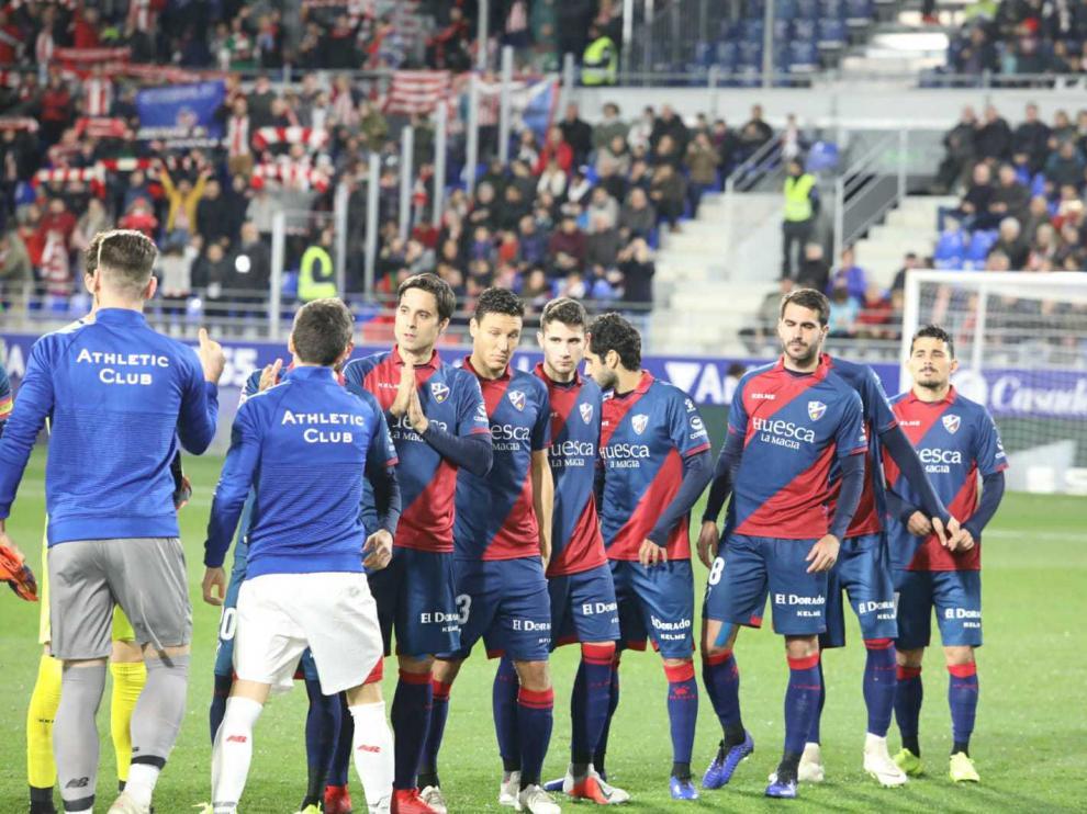 Partido entre el Huesca y el Athletic de Bilbao