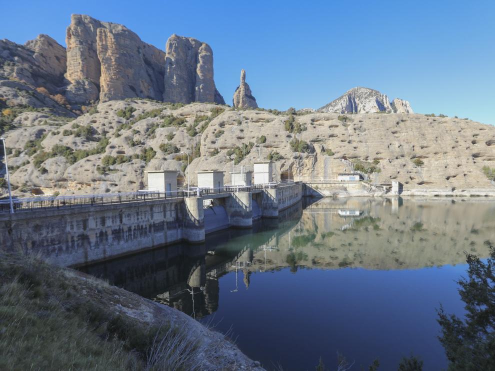 Casi el 90% del agua que llega a la red de Huesca procede del embalse de Vadiello, que ahora está al 85% de capacidad