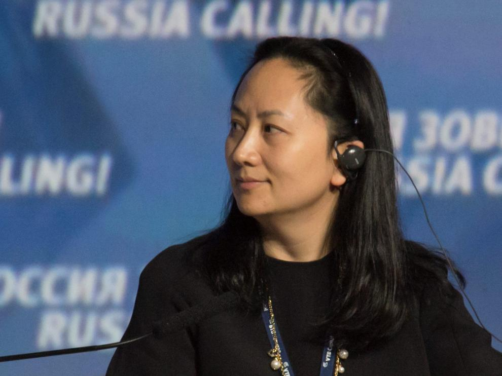 La ejecutiva de Huawei detenida en Canadá, Wanzhou Meng.