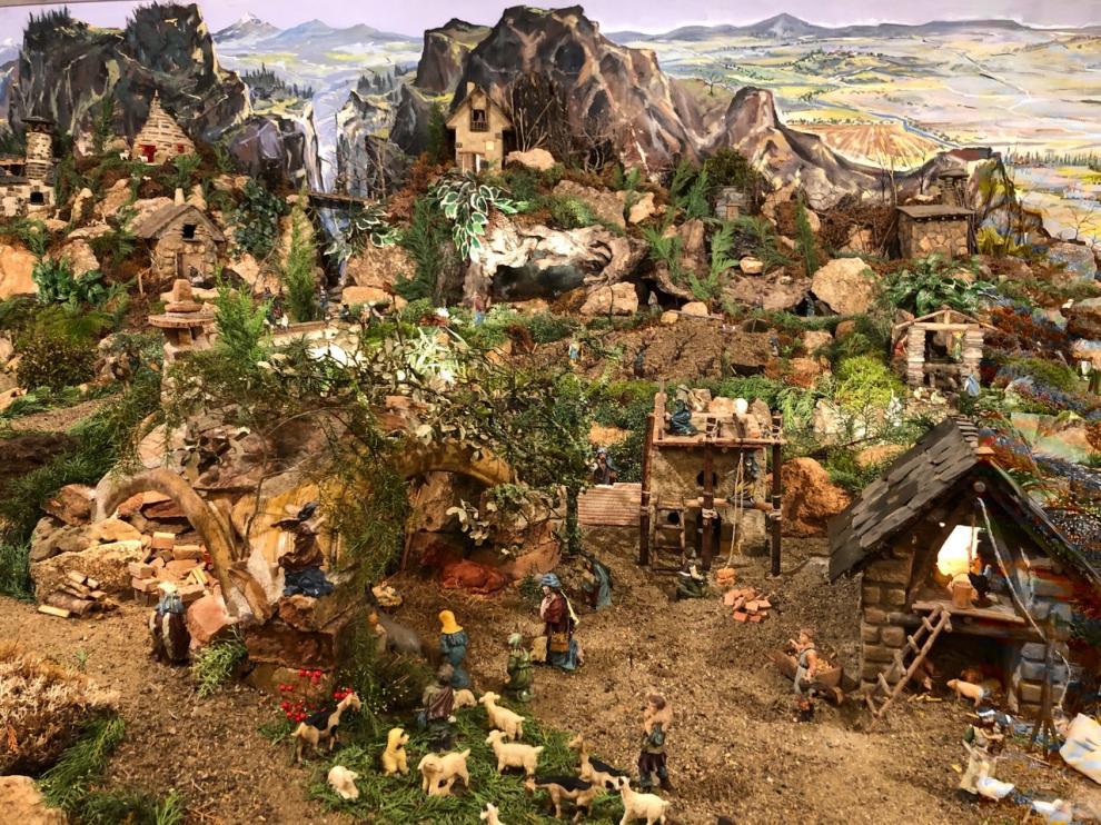 La Navidad llega a Pomar de Cinca con la apertura de su Belén montañés