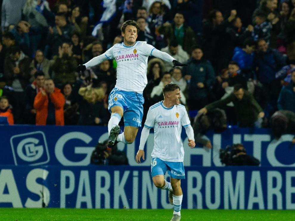 Gual celebra el gol que marcó al Mallorca.