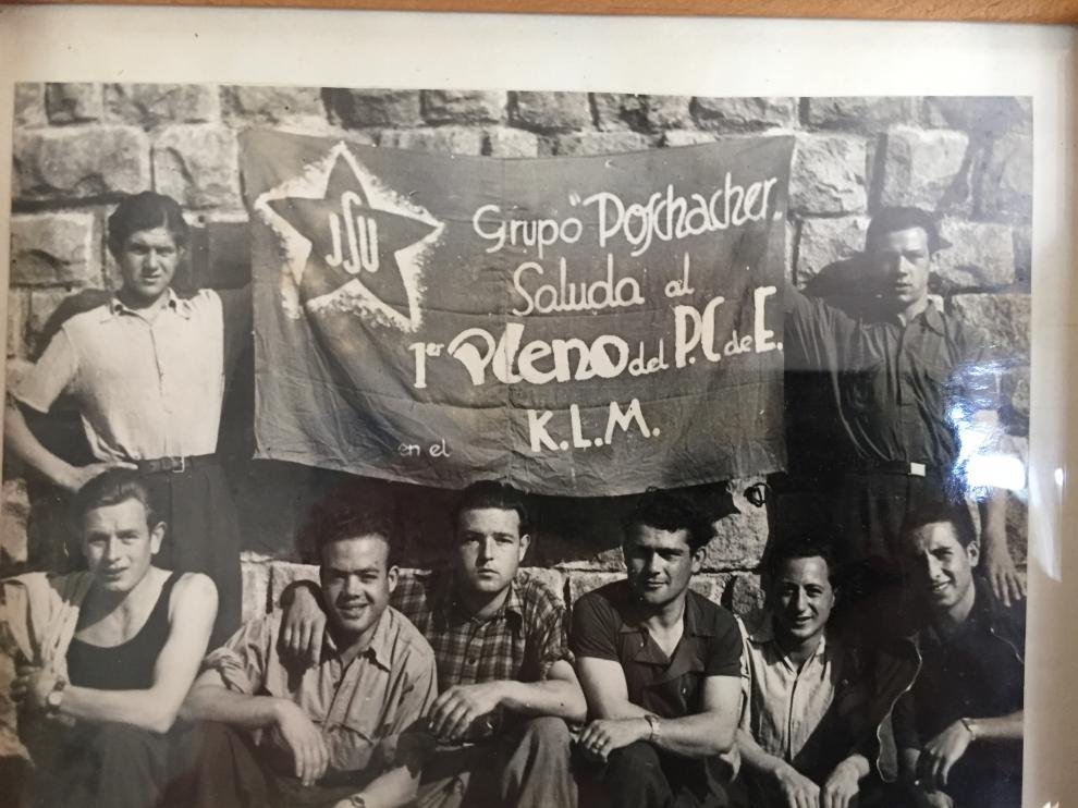 Grupo Poschacher de deportados españoles en Mauthausen.
