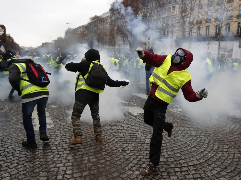 Protestas de los 'chalecos amarillos' en imagen de archivo