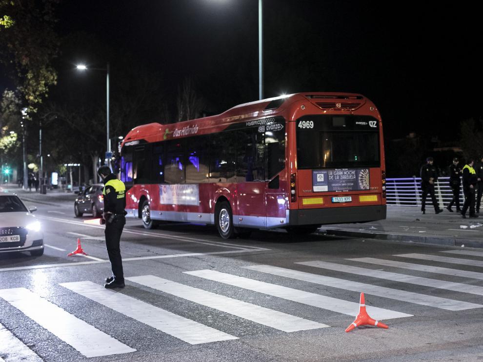 Lugar del atropello mortal de este sábado en Zaragoza