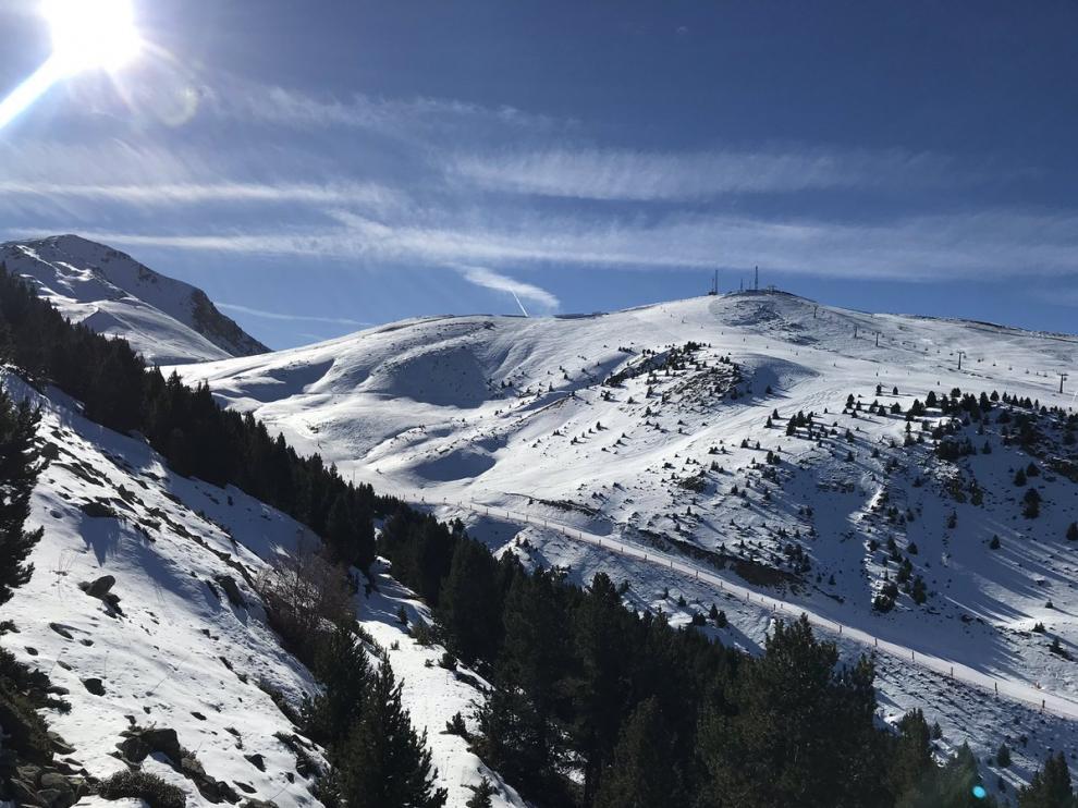 Nieve en el Pirineo.