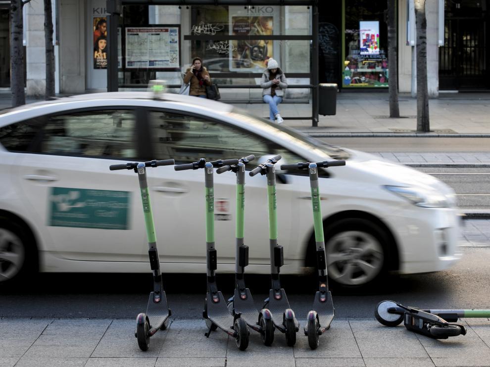 En Zaragoza se han instalado cuatro empresas de patinetes eléctricos desde septiembre