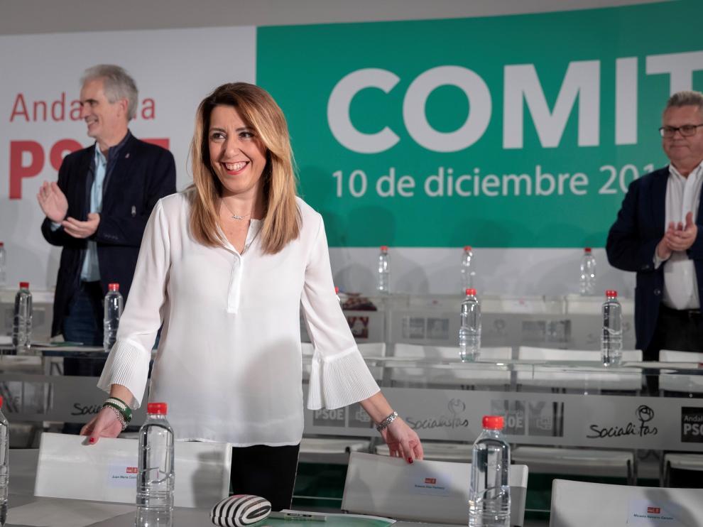 La presidenta del PSOE en Andalucía, Susana Díaz.