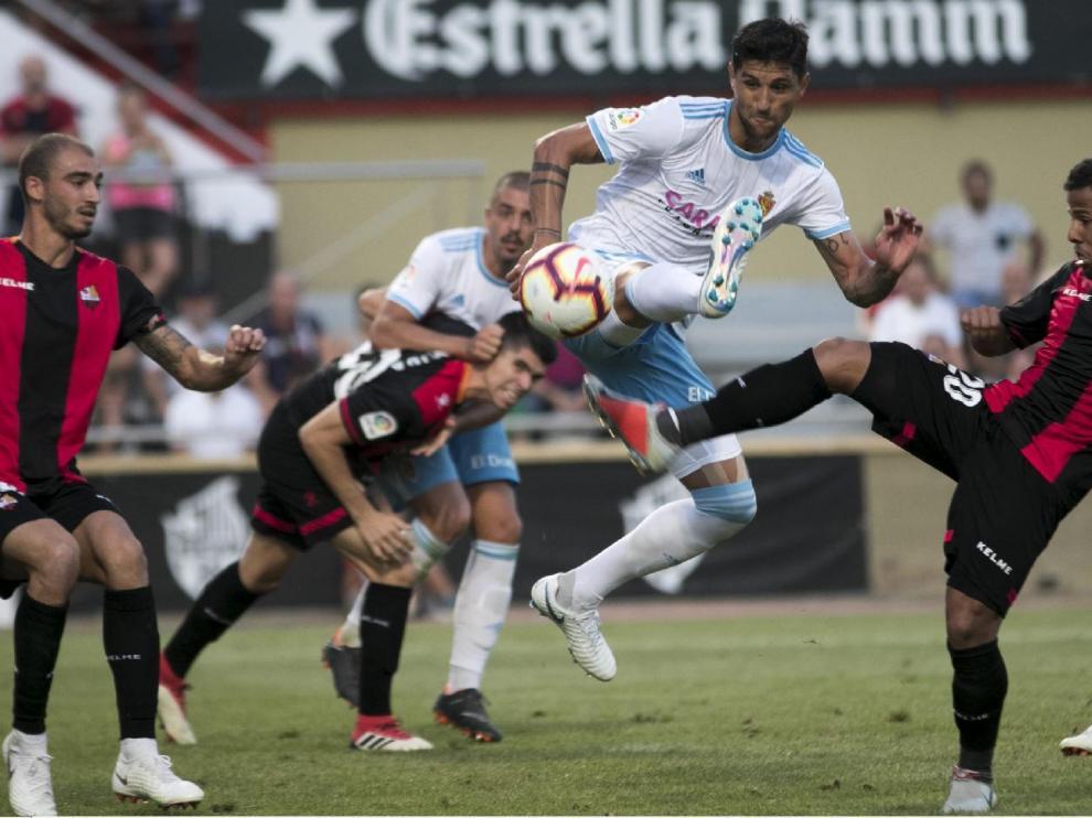 Un lance del Reus-Real Zaragoza (0-0) que se jugó en agosto, en la 2ª jornada de la actual liga.
