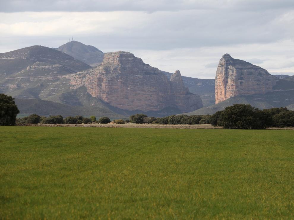 El Salto de Roldán, en la sierra de Guara.