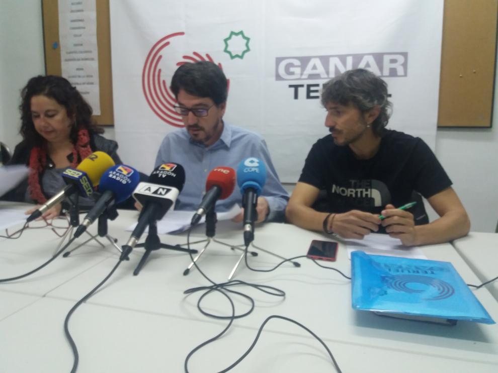 Rueda de prensa de los portavoces de Ganar Teruel.