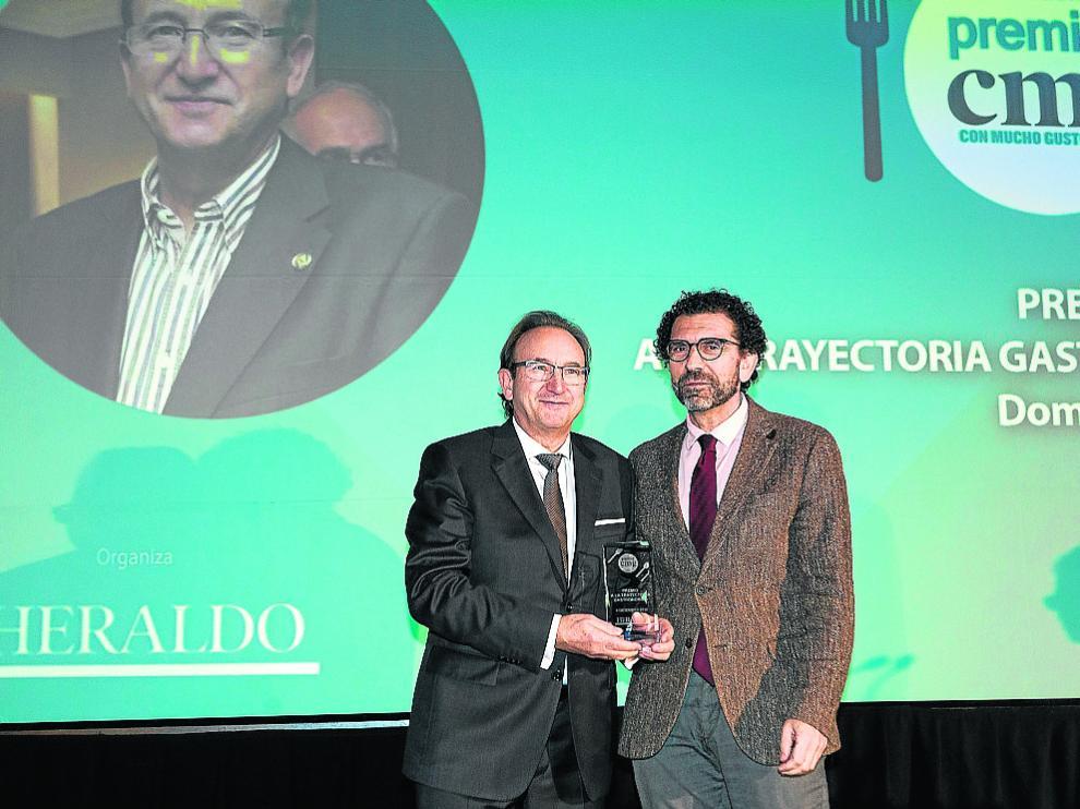 Domingo Mancho, junto a Enrique Torguet, director de Márquetin y Comunicación de Ambar.
