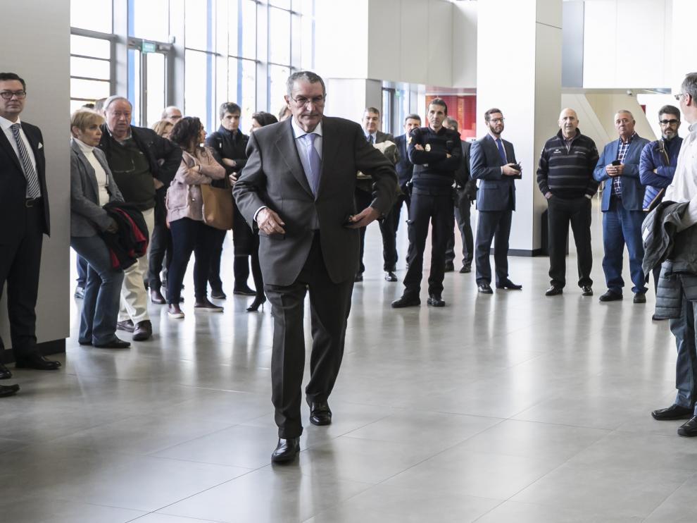 El exgerente de Plaza Ricardo García Becerril entrando a la sala de vistas en una foto de archivo.