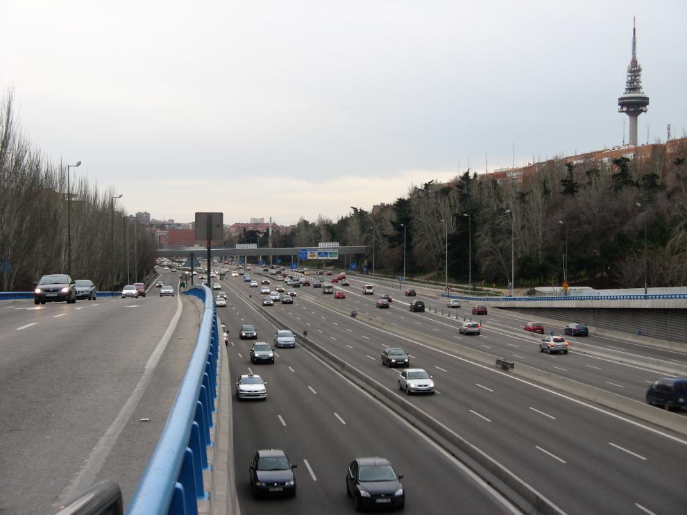 La M-30 de Madrid.