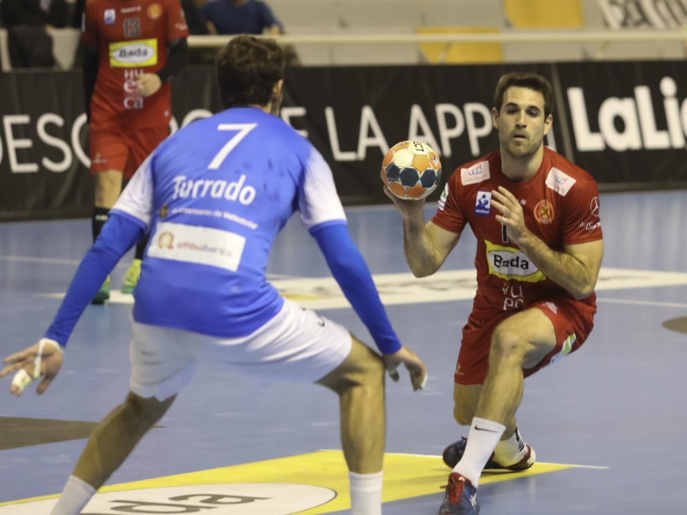 Adrià Pérez, jugador del Bada Huesca.