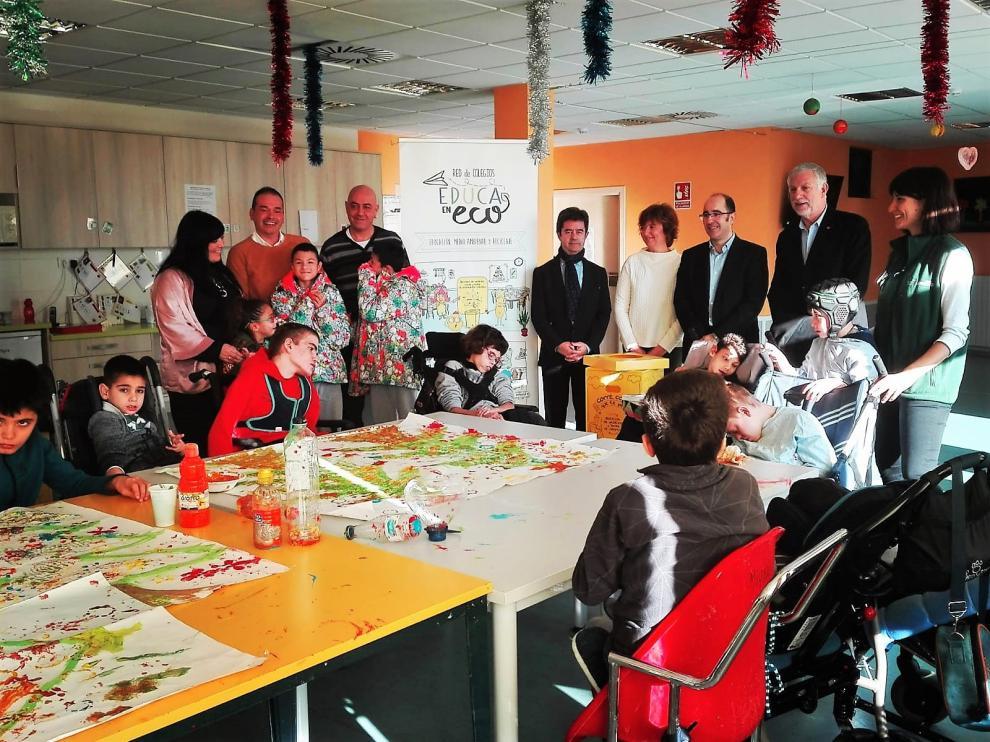 El programa EducaEnEco Aragón se ha presentado en el Centro de Educación Especial San Jorge de Aspace en Huesca
