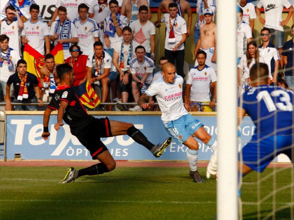 Imagen del Reus-Real Zaragoza de la primera vuelta.