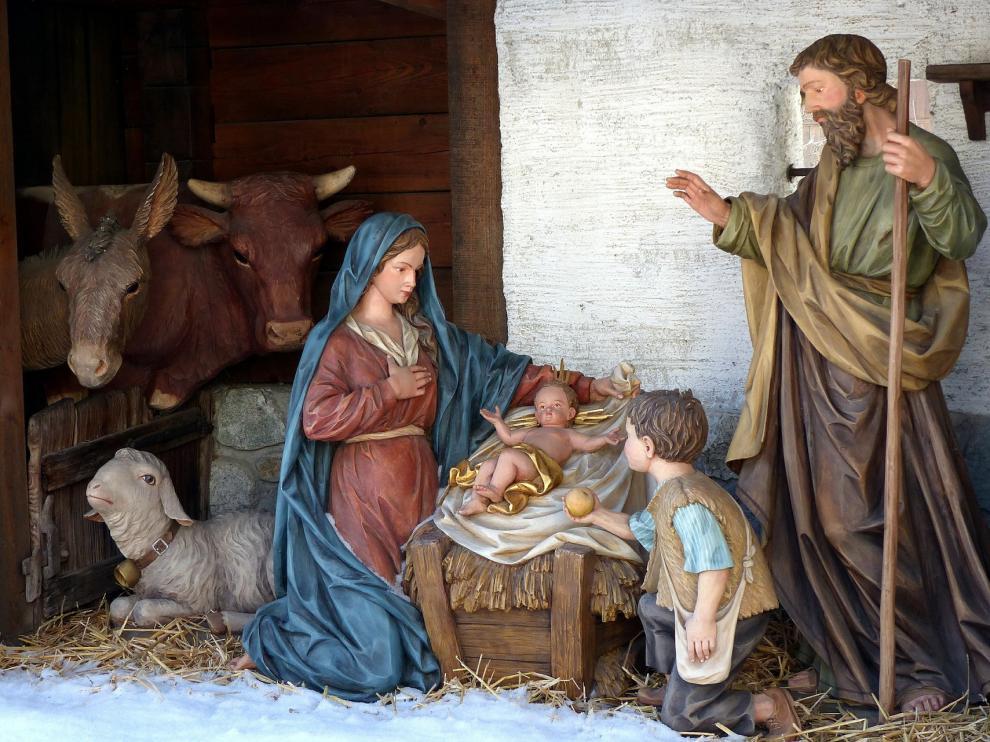 El belén es una representación del nacimiento de Jesús.