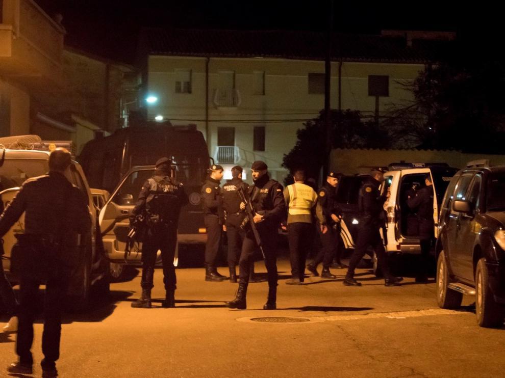 Operativo policial en la noche de los hechos del 14 de diciembre de 2017 en Andorra.