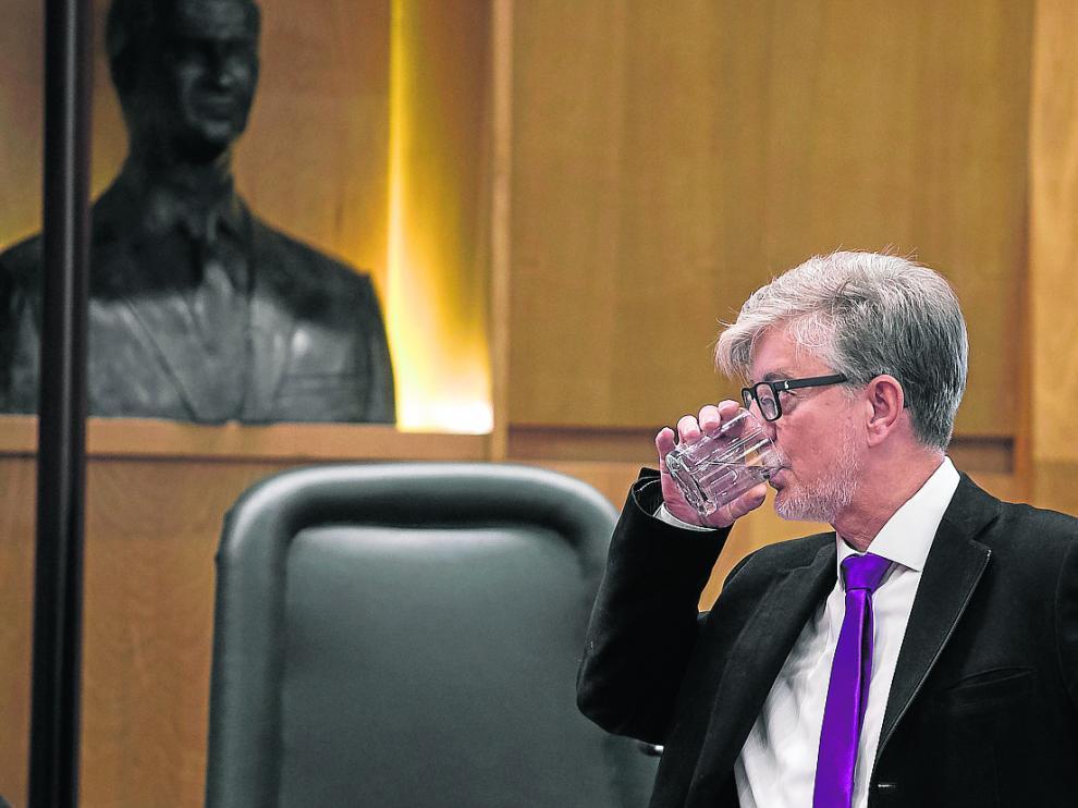 El alcalde Santisteve, durante el pasado debate sobre el estado de la ciudad.