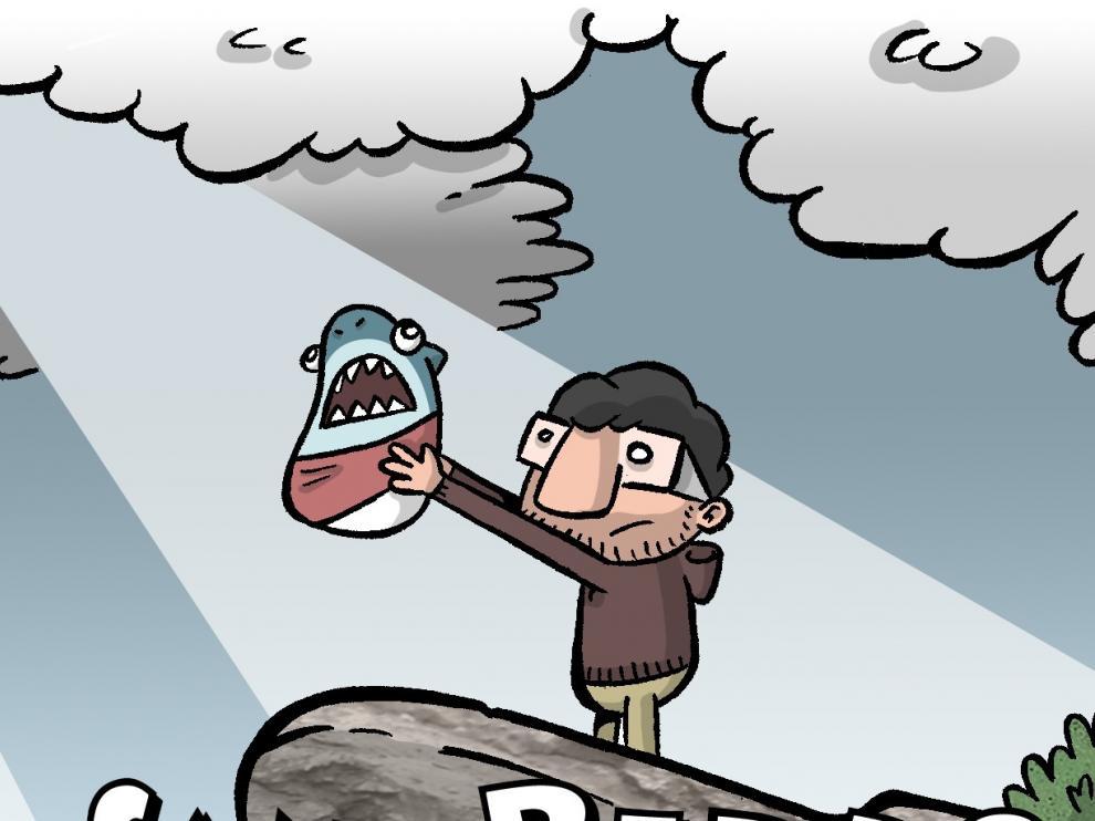 Ilustración del fanzine 'San Pedro Tiburón', del artista Angelito Perkele