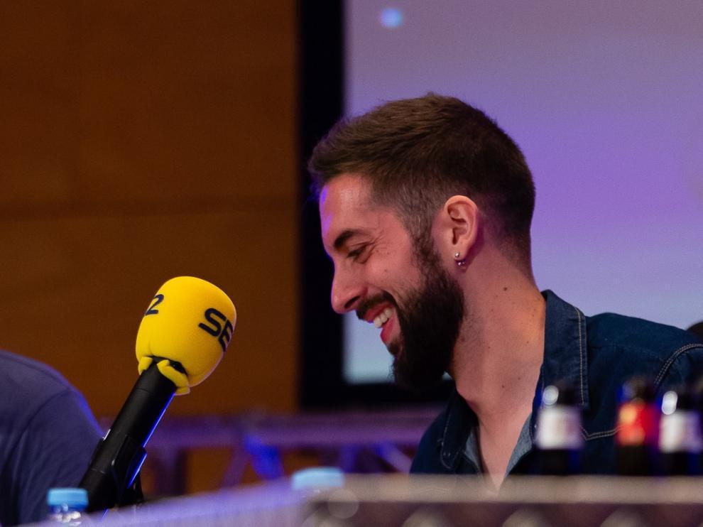 El humorista David Broncano, durante su última visita a Zaragoza, hace un par de meses en el Auditorio de la capital aragonesa.