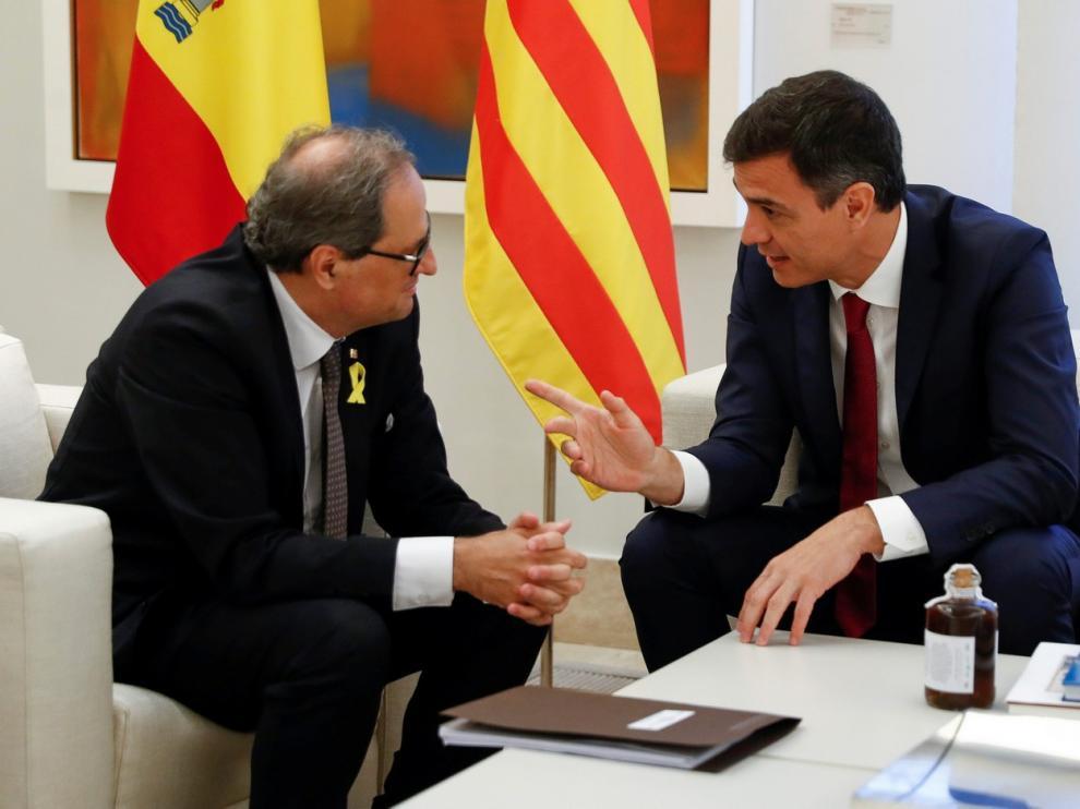 9 DE JULIO. Reunión de Pedro Sánchez con Quim Torra en el palacio de la Moncloa