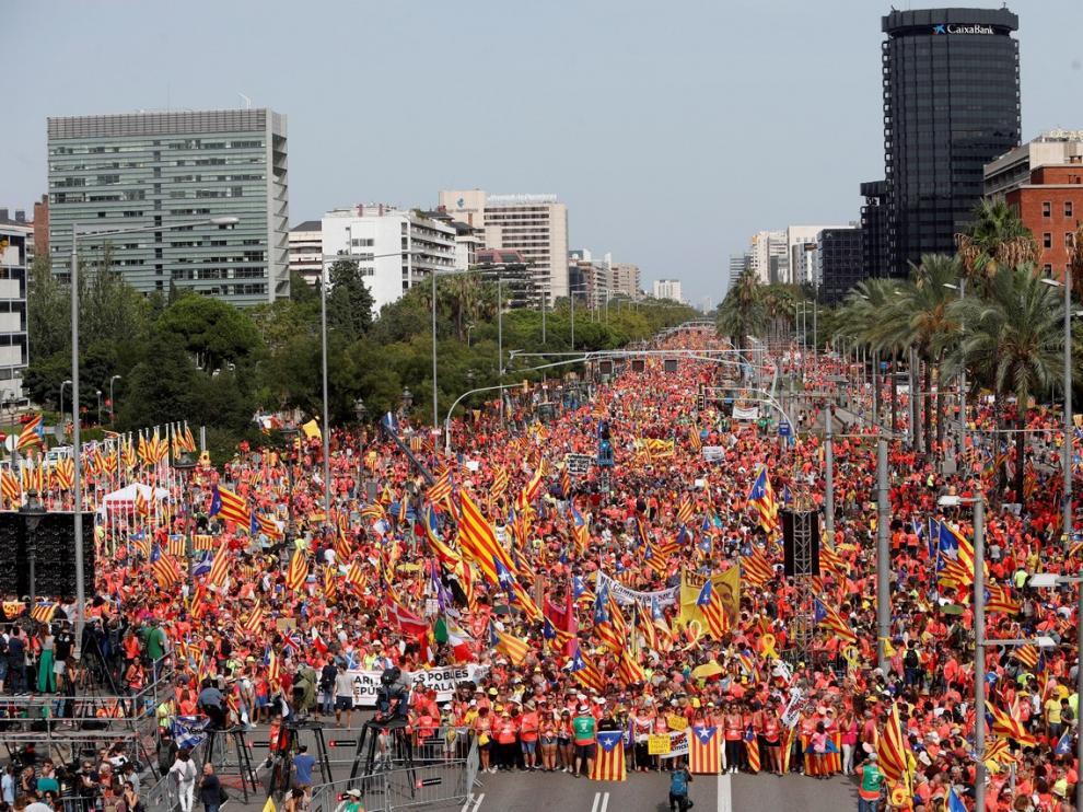 11 DE SEPTIEMBRE. Manifestación independentista por la Diada Foto