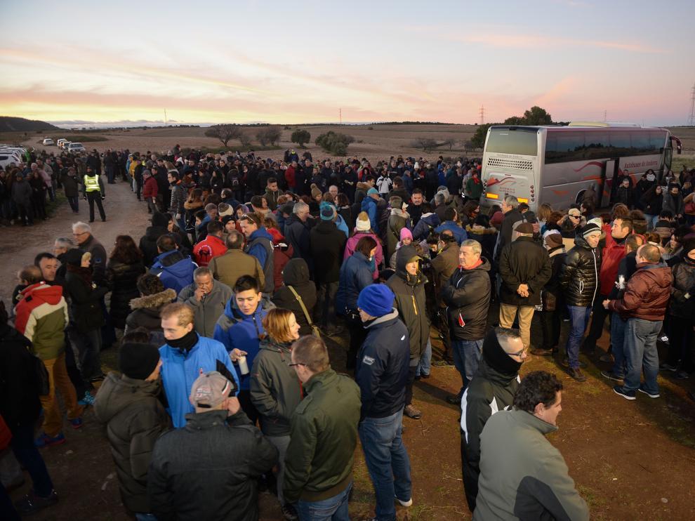 Homenaje a las víctimas del triple crimen de Teruel.