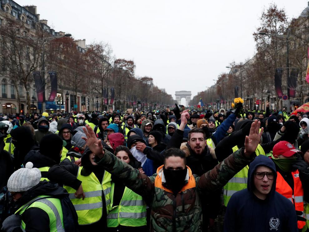 Protesta de los 'chalecos amarillos'.