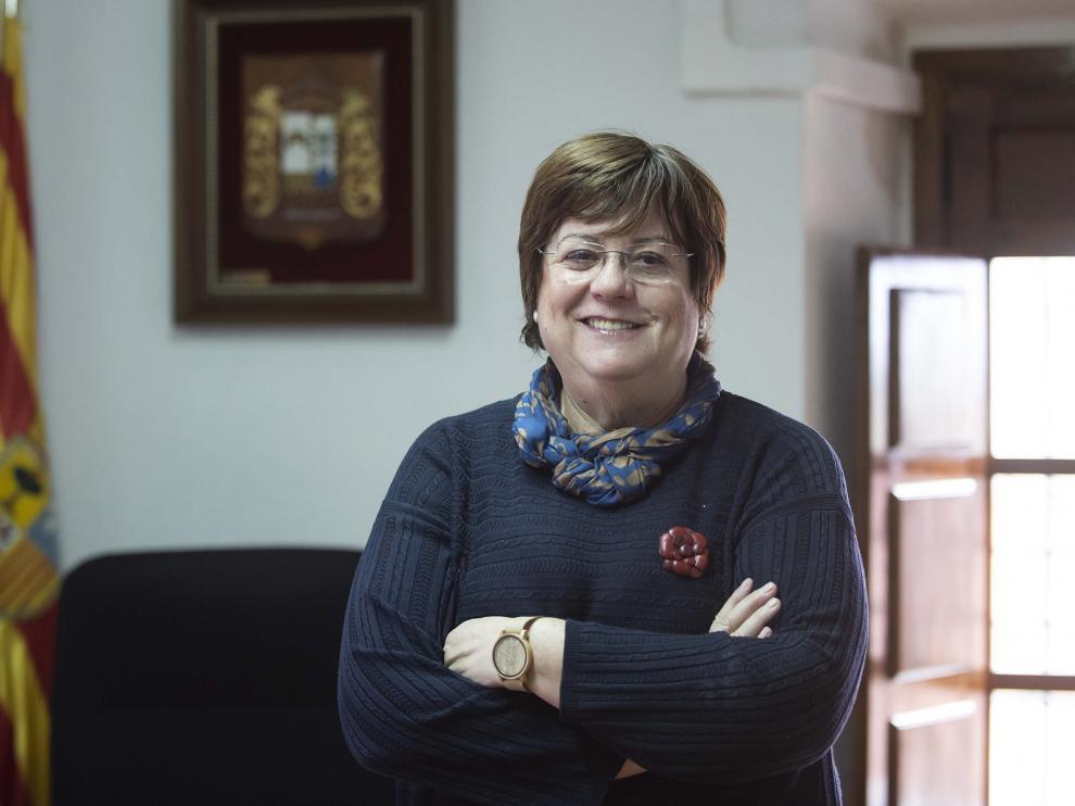 La alcaldesa de Torres de Berrellén, en el ayuntamiento.