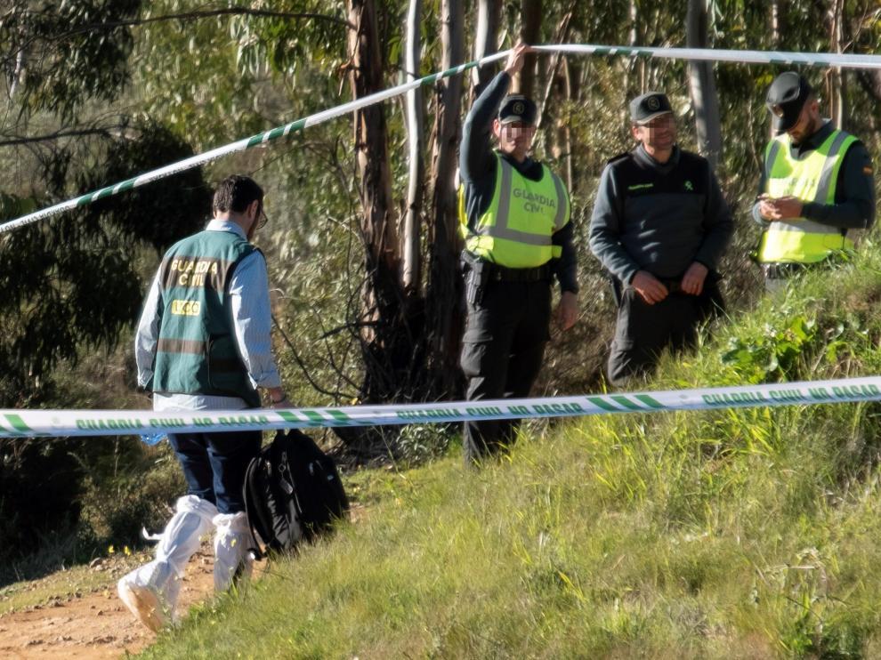 Lugar donde se halló el cadáver de Laura Luelmo, cerca de El Campillo, en Huelva.