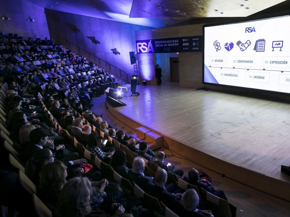 La jornada anual de RSA ha tenido lugar este martes en el Auditorio de Zaragoza.