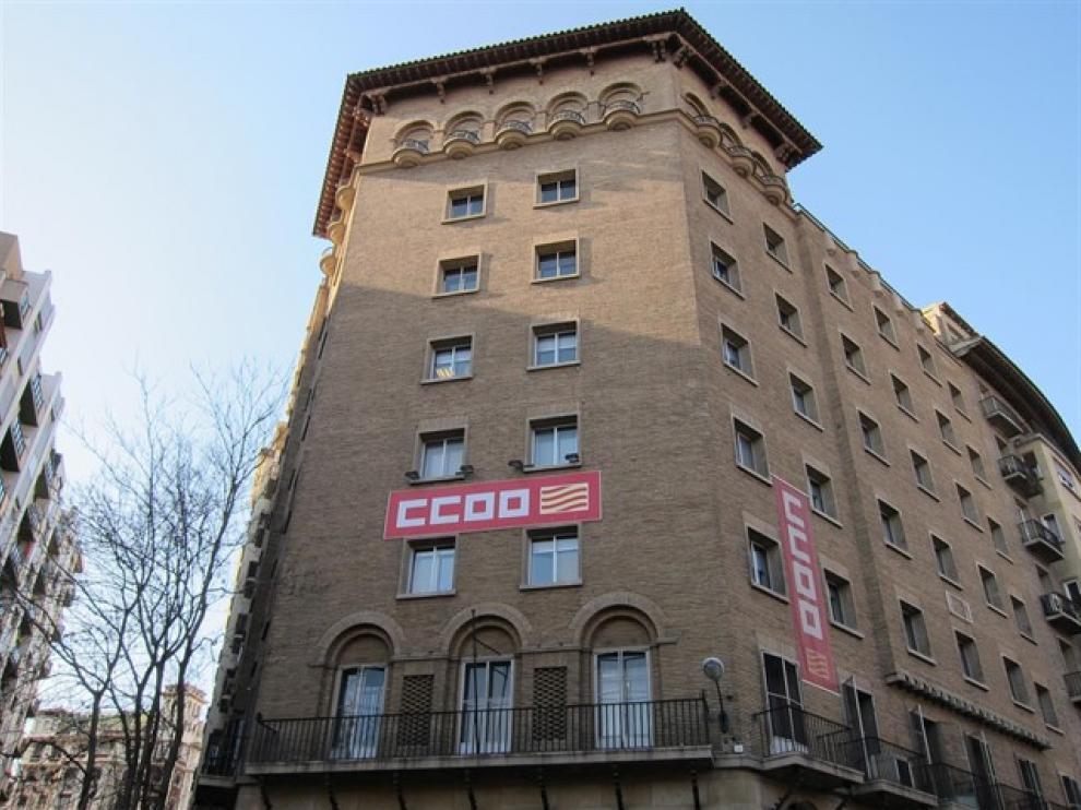 Sede de CC. OO. de Aragón en Zaragoza
